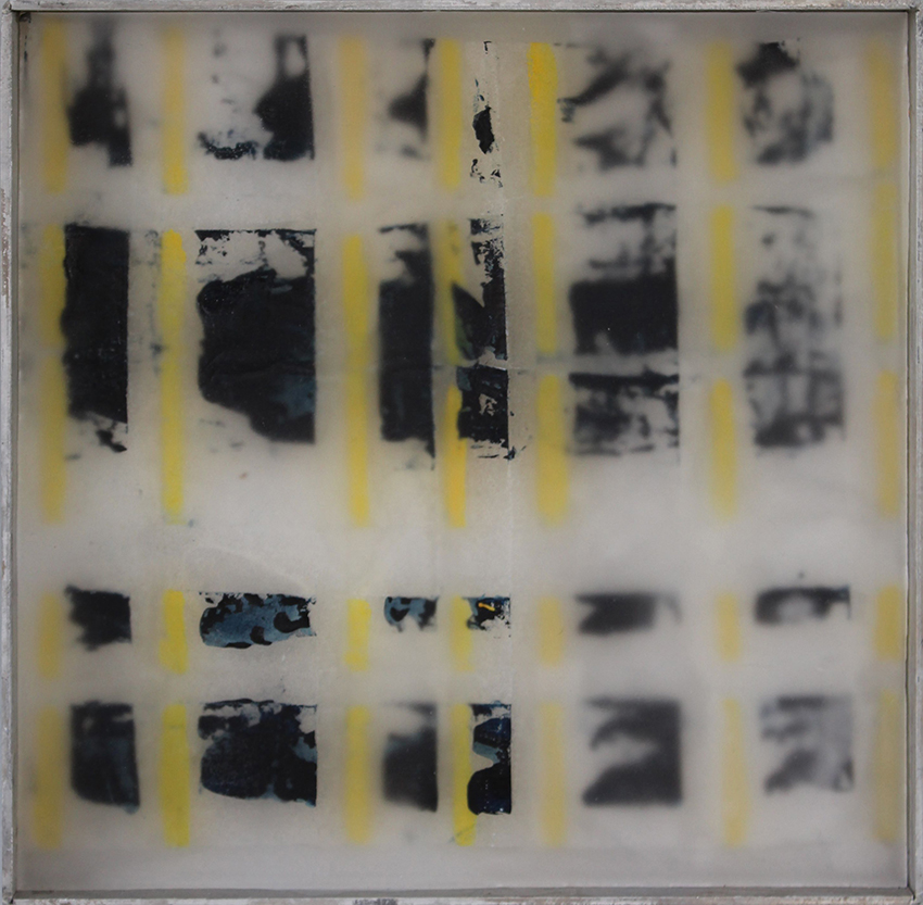 composition yellow-black#1- oil/paper/wax