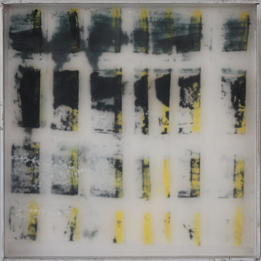 composition yellow-black#2- oil/paper/wax